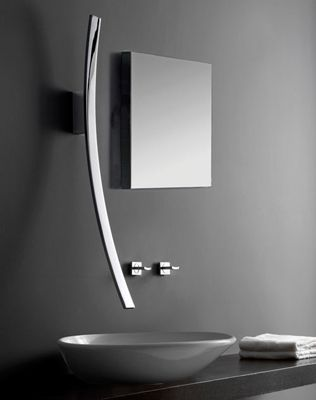 The Curved Design Of The Luna Bathroom Faucet By Graff Is Inspired