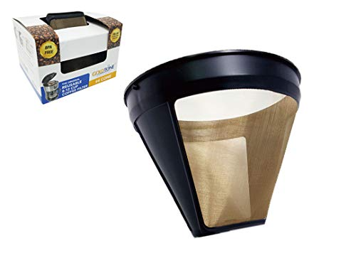 Goldtone Reusable 4 Cone Style Krups Reusable Coffee Filter Replaces Your F05342 Permananet Coffee Filter For Krups Machines And Brewers Em 2020