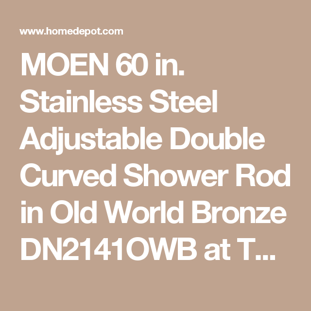 Moen 60 In Stainless Steel Adjustable Double Curved Shower Rod In