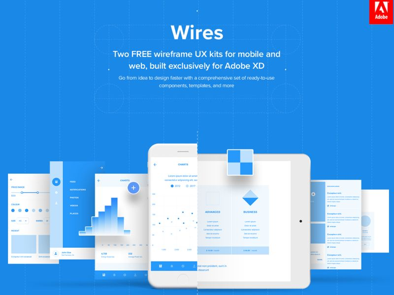 Download free UI design Wires - Free Wireframe Kits for