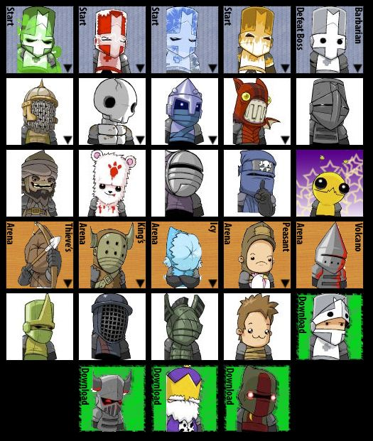 Castle Crashers Character Styles Castle Crashers Game Pictures Castle