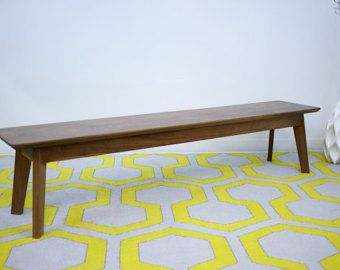 Midcentury Modern Bench Walnut Dining Table The Vermonter