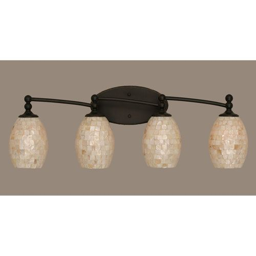 Dark Granite Four Light Bath Fixture
