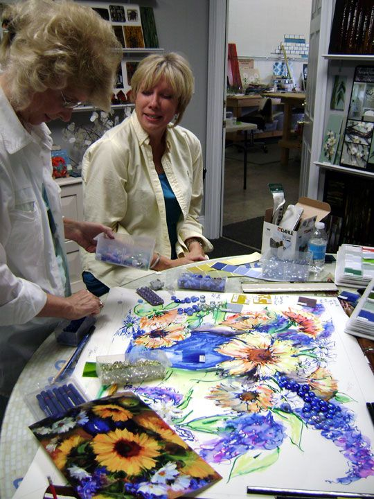 Fused glass murals- the finest fused work I've ever seen!