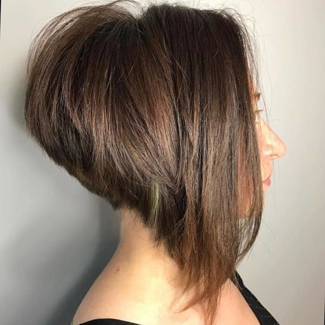 Loving That Highly Stacked Aline Bob Great Angle And Texture Hair By Hair Philosophy Pa Hairphilosop Angled Bob Haircuts Bob Hairstyles Thick Hair Styles