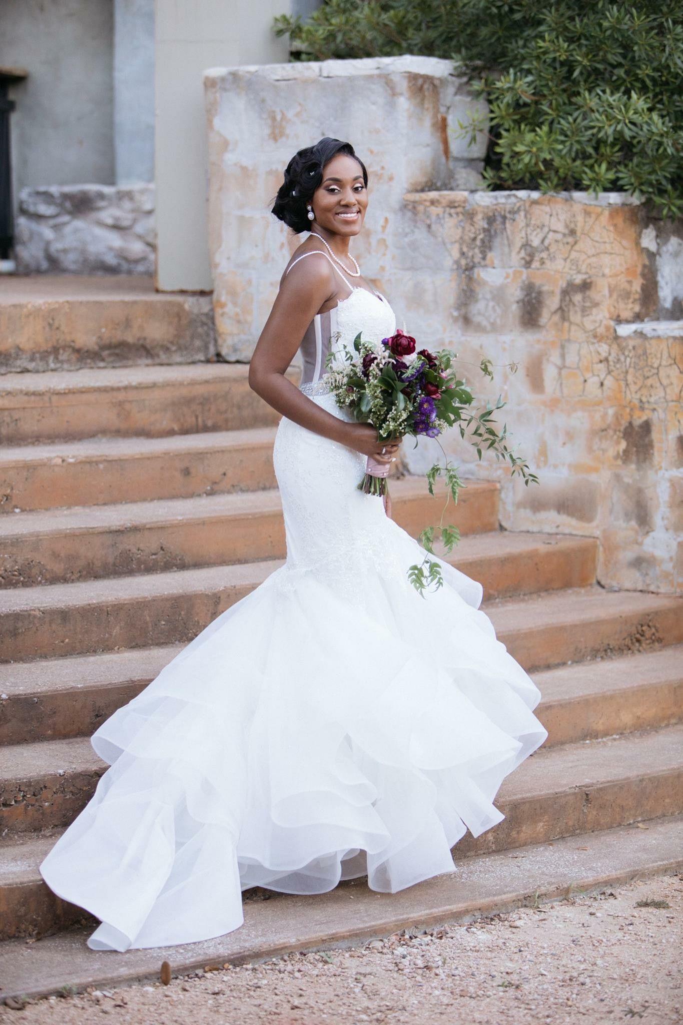 Pnina wedding dress  Pnina Tornai dress Blush and plum vintage wedding  Happily Ever