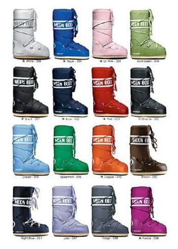Moon Boots in All the Color of the