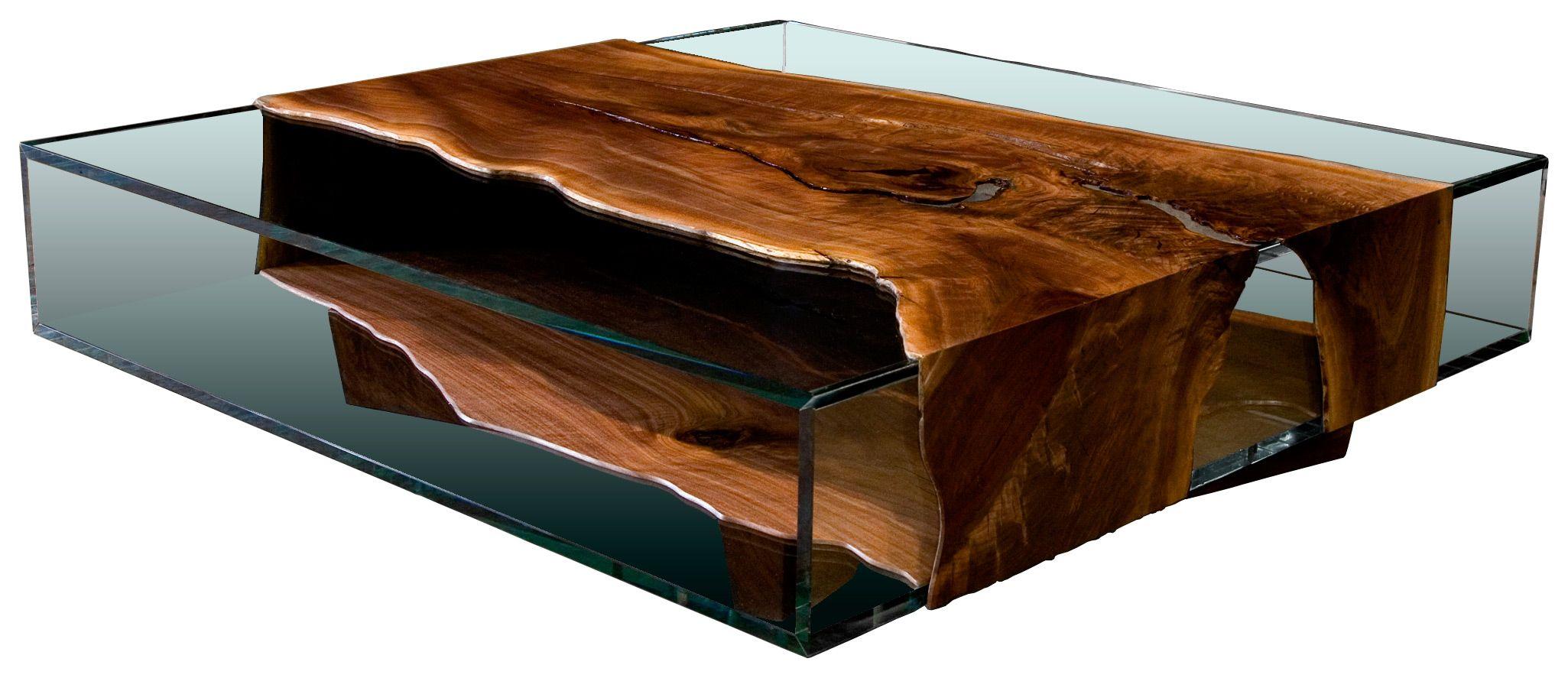 glass and live edge wood john houshmand table