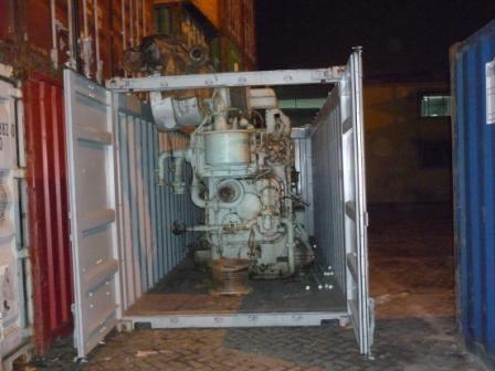 Engine Loading In The Container Vintage Industrial Lighting Engineering Diesel Generators