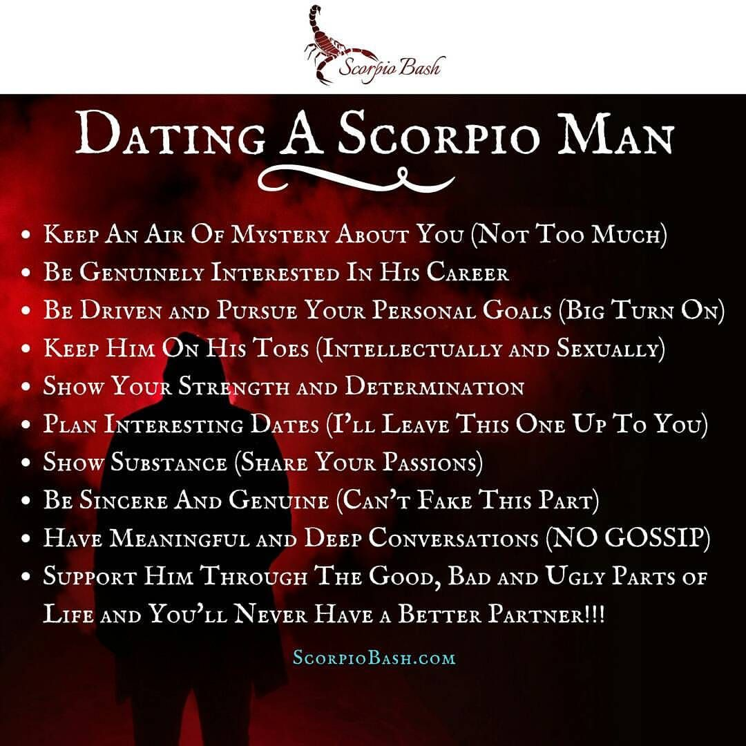 What To Do When Dating A Scorpio Man