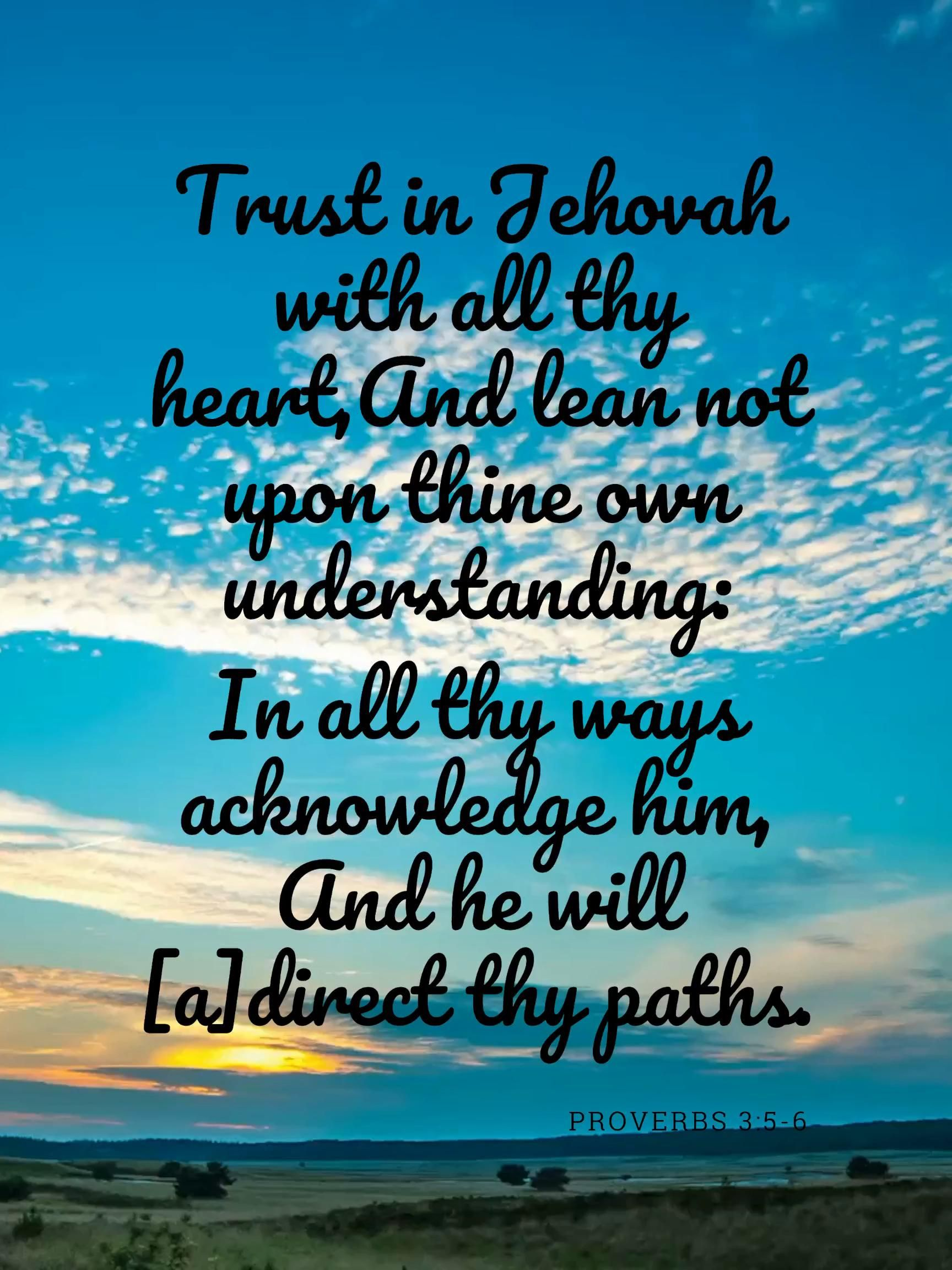 Proverbs 3:5-6, Scripture