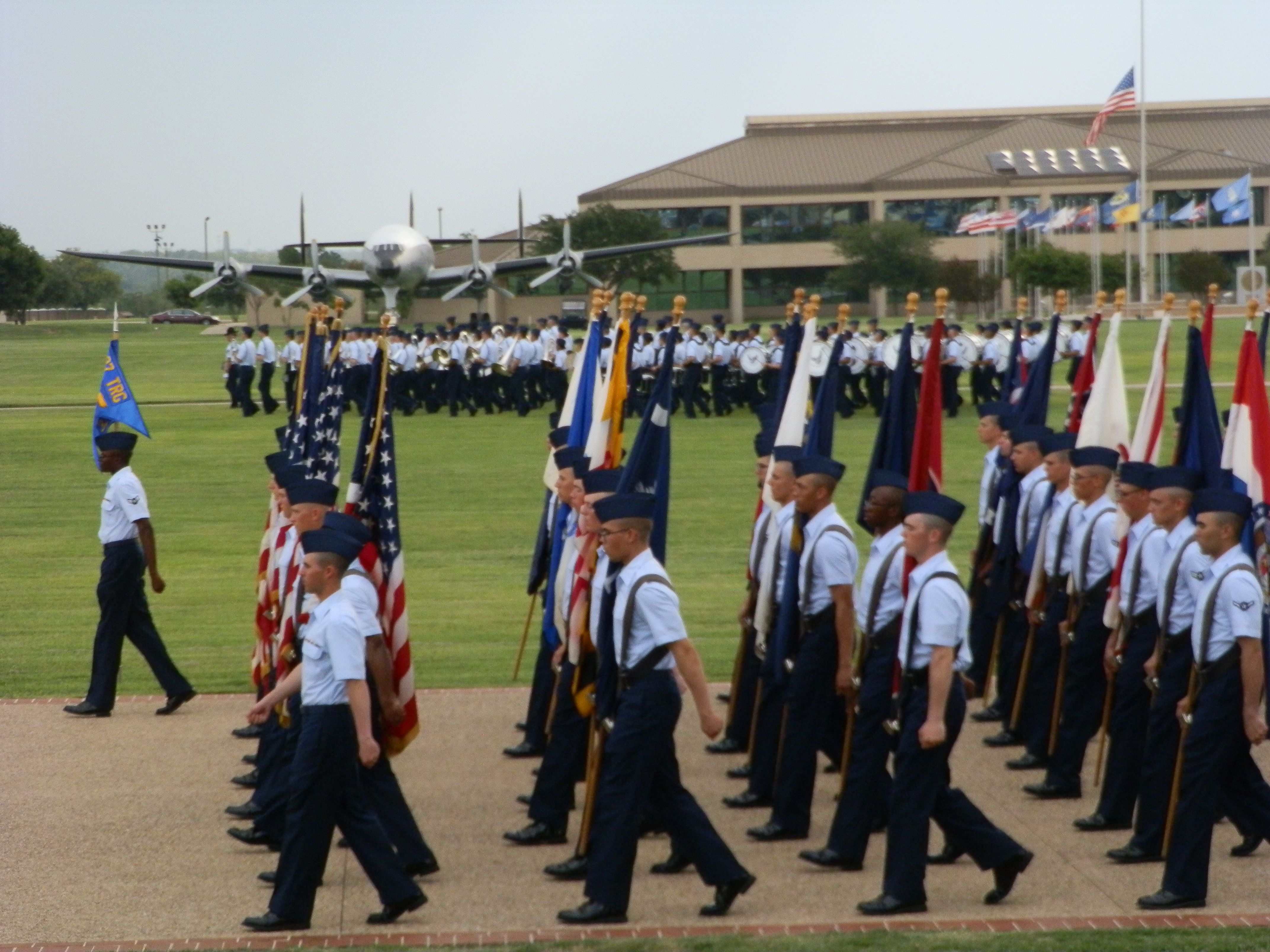 air force bmt bomb run th training squadron flight  graduation ceremony at lackland air force base in san antonio tx part of the