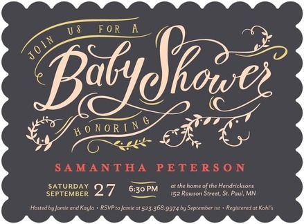 Sincerely Sweet   Baby Shower Invitations   Petite Alma   Flint Gray  #TopPin #baby. Business Holiday CardsTiny PrintsIdeas ...
