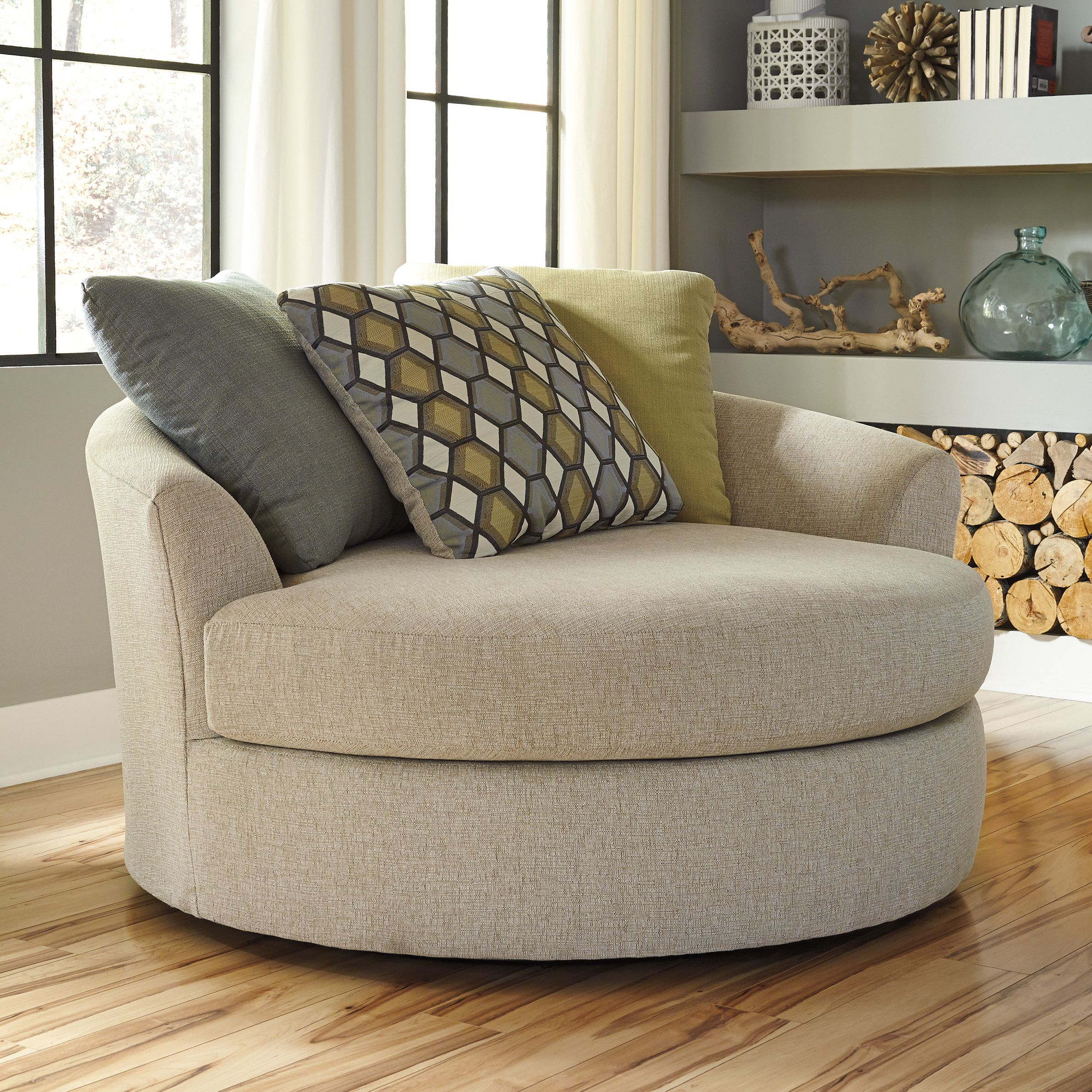 Latitude run bradfield oversized swivel barrel chair reading