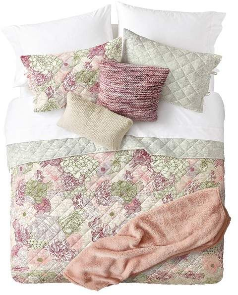 Queen Sized Reversible Floral Quilt Set - Multi #nordstromrack