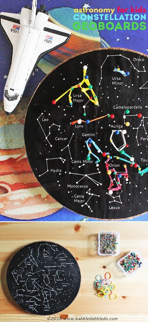 Kids\' Astronomy Project: Constellation Geoboards | Constellation ...