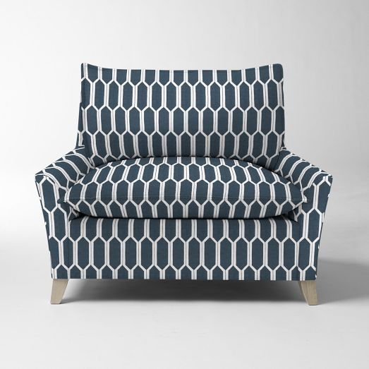 Best Bliss Down Filled Chair And A Half Prints West Elm 400 x 300