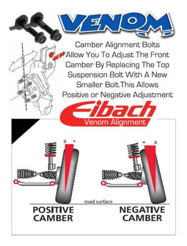 Details about 2 x Eibach Front Axle Wheel Camber Adjustment