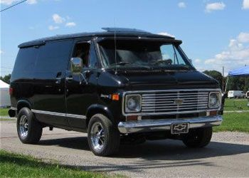 Black 82 Chevrolet Shorty Van, only the wheels were different.