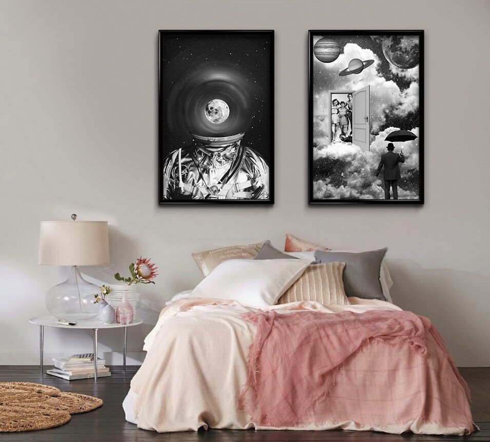 Bring more style to your bedroom walls with my black and white