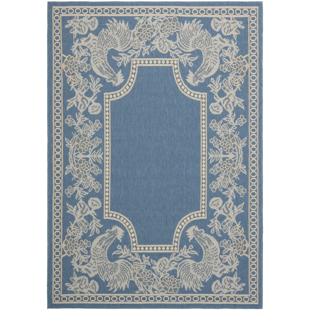 Safavieh Courtyard Blue/ Natural Indoor Outdoor Rug | Overstock™ Shopping - Great Deals on Safavieh 7x9 - 10x14 Rugs