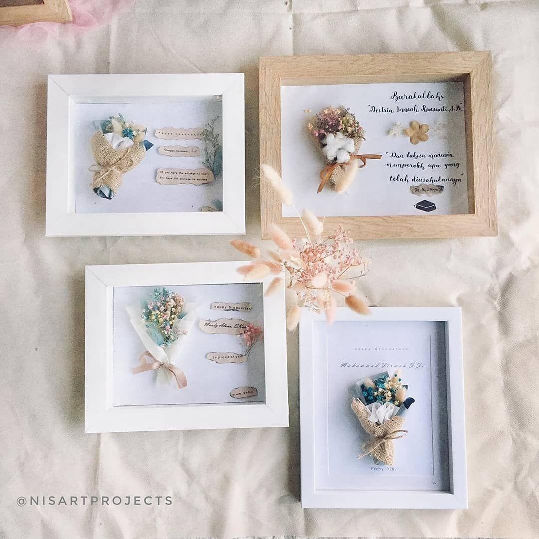 Yang Mau Kasih Kado Wisuda Dried Flowers In Frame Kado Bayi