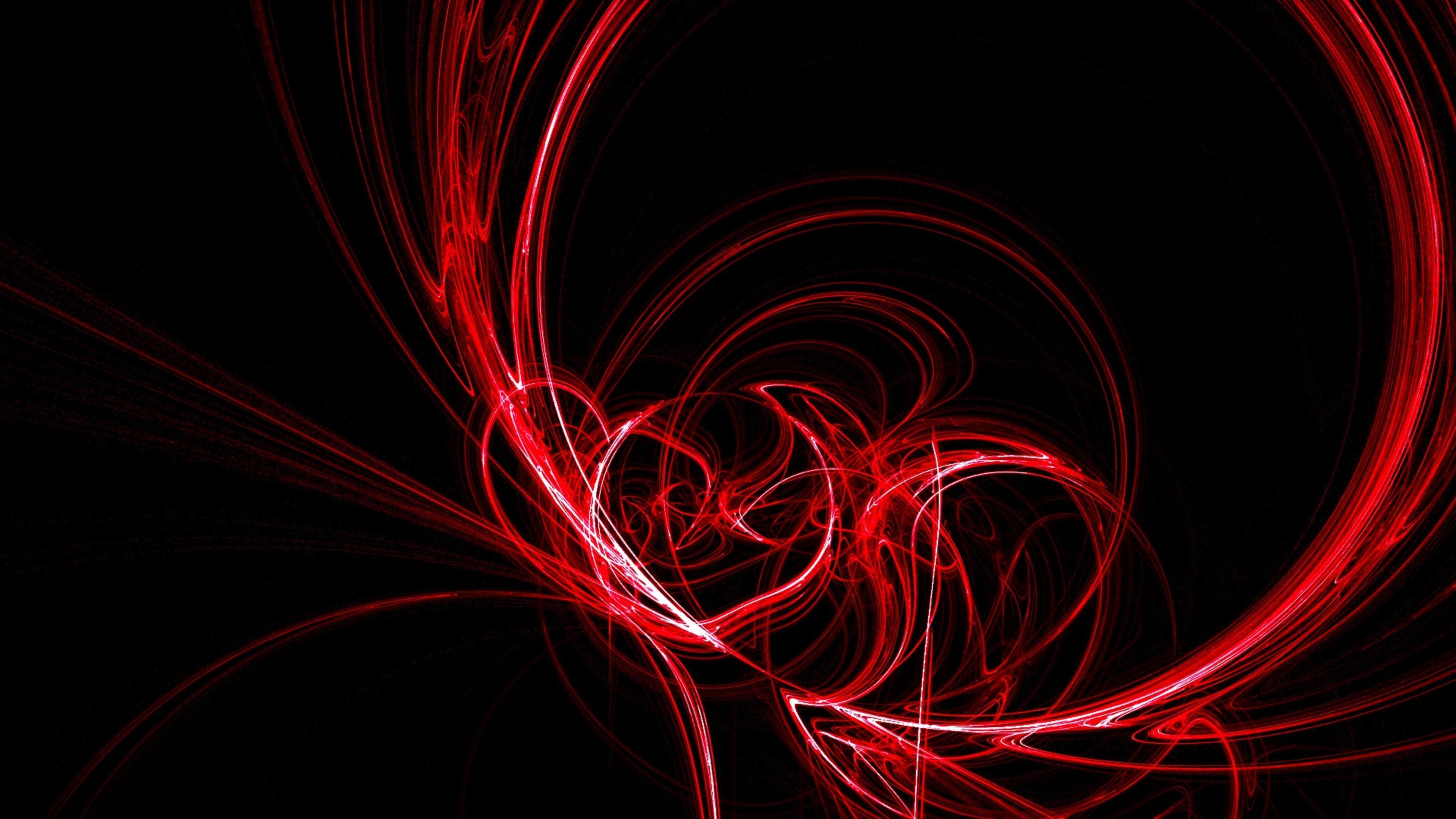 Black And Red Swirl Abstract K Wallpapers Free K Wallpaper