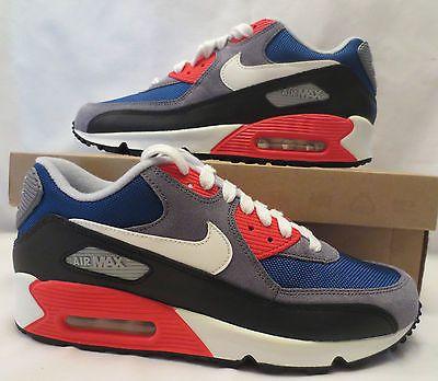 new concept cf8d7 65e13 Nike Air Max 90 Dark Royal Blue Sail Sneaker Shoe Women 325213 406   eBay