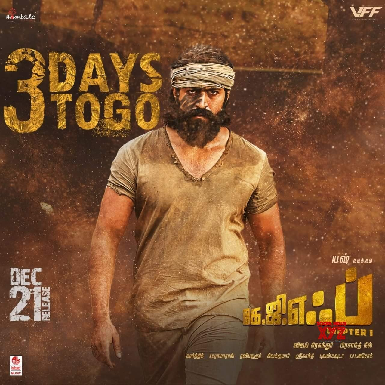 Kgf Movie 3 Days To Go Posters Social News Xyz In 2020 Kannada Movies Download Telugu Movies Download Kannada Movies
