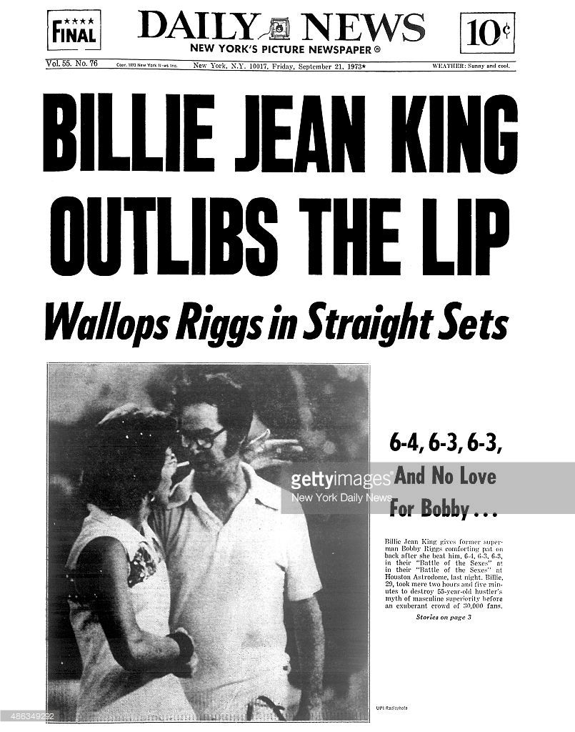 This Day September 20 Billie Jean King Beats Bobby Riggs In