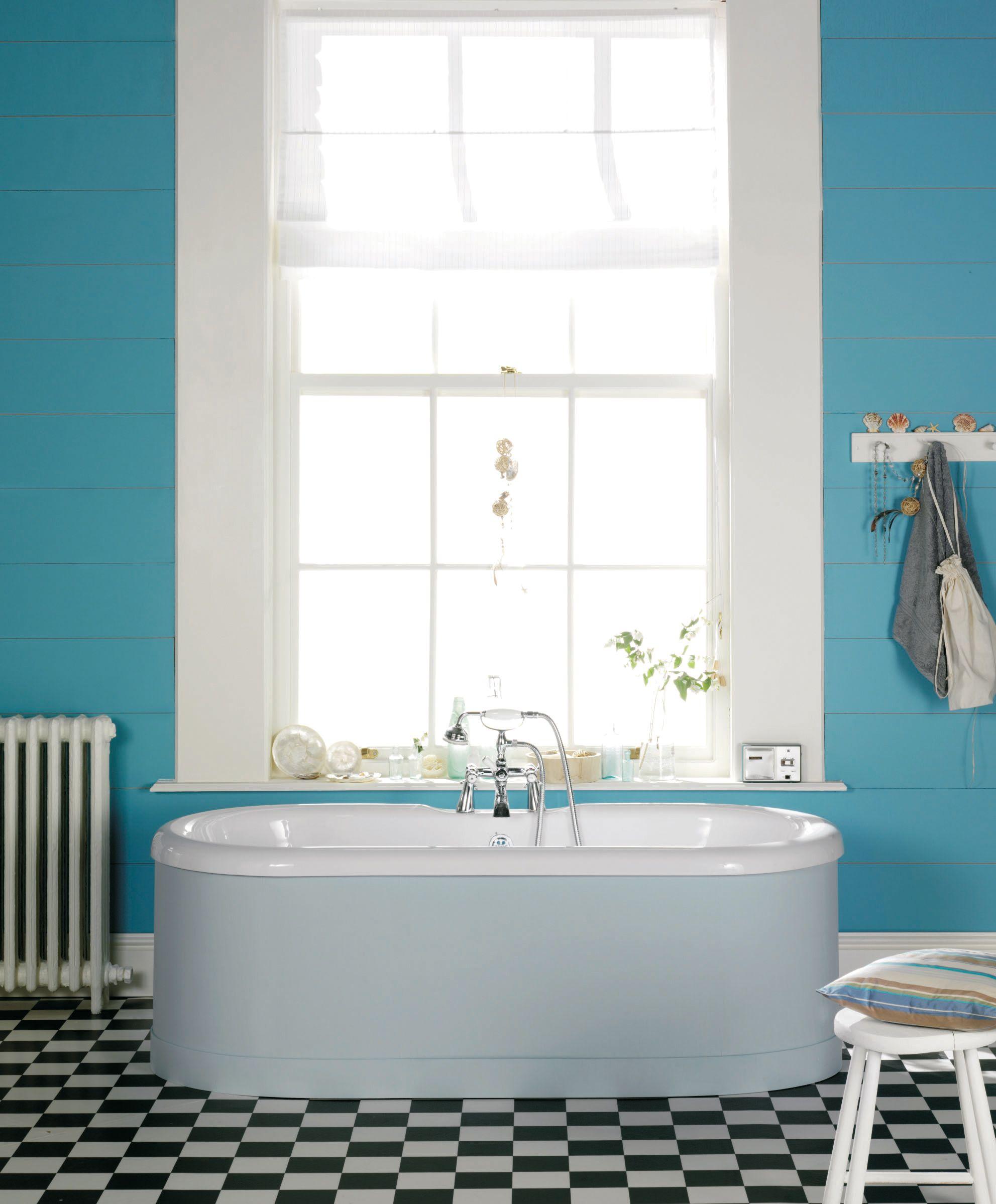 Walls: Little Greene Polar Blue 121 Woodwork: Little Greene ...