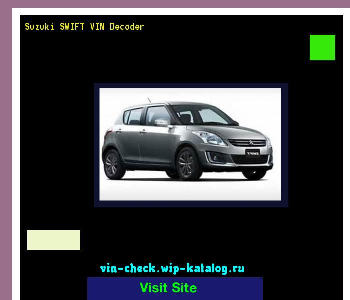 Suzuki Swift Vin Number