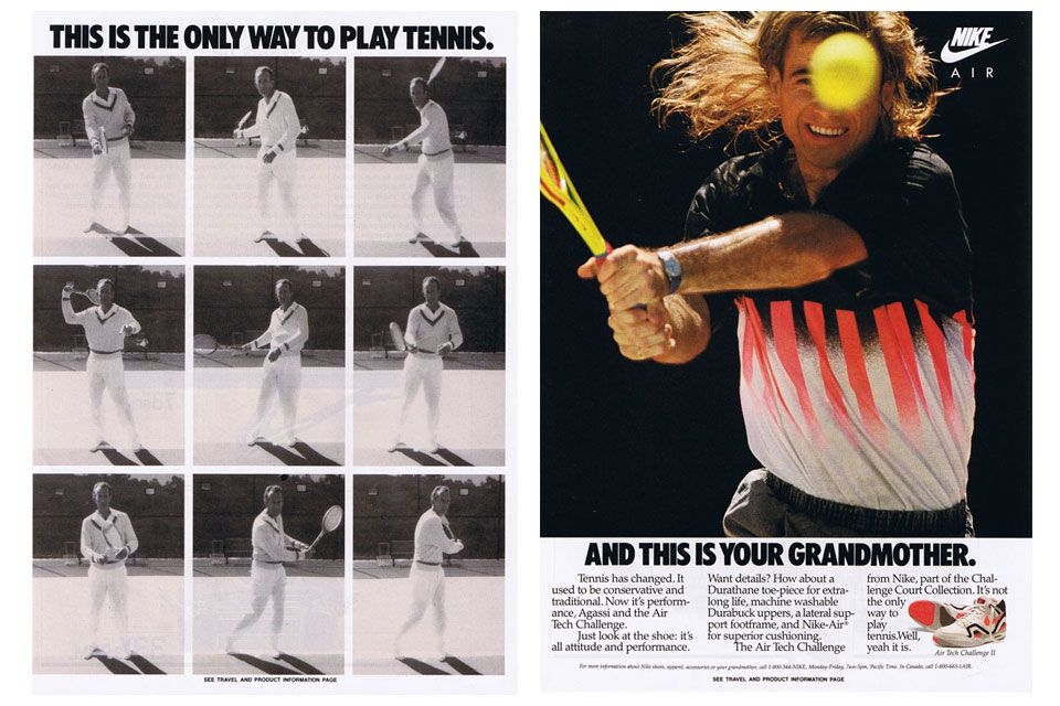 Nike Air Tech Challenge II Ad (1990) Andre agassi