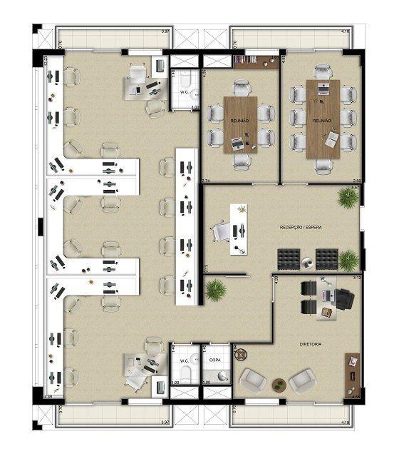 Oscar freire design offices planta jun o de 4 unidades for Planos de oficinas pequenas