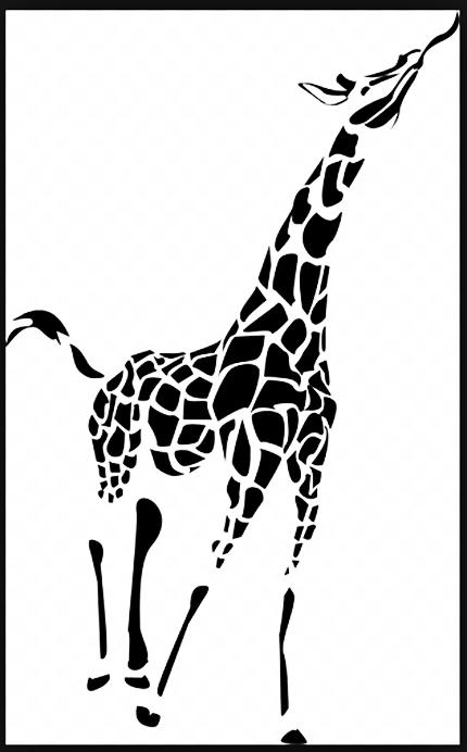 Marvelous Tribal Giraffe Tattoo