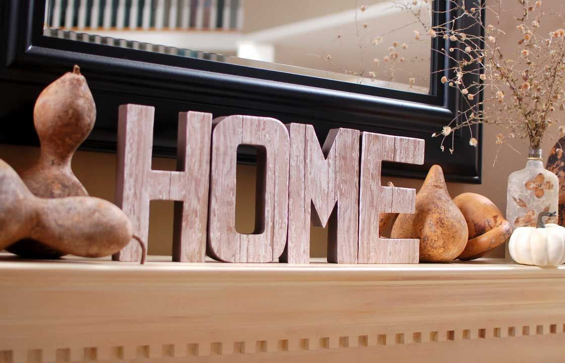Merveilleux Home Interior, Wooden Letters: Decorating Interior Rooms: Home Wooden  Letters