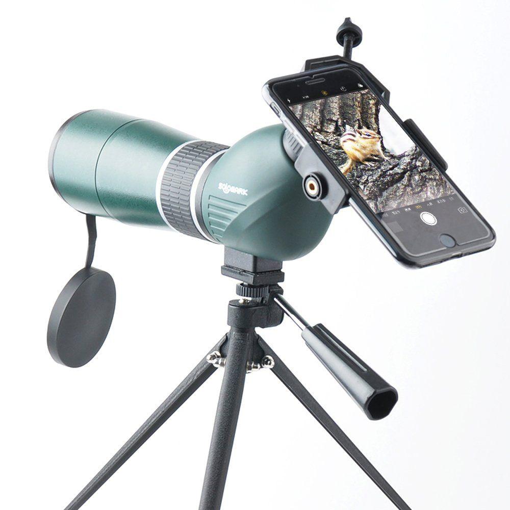 Solomark 1545X 60 Army Green Spotting Scope 45 Degree
