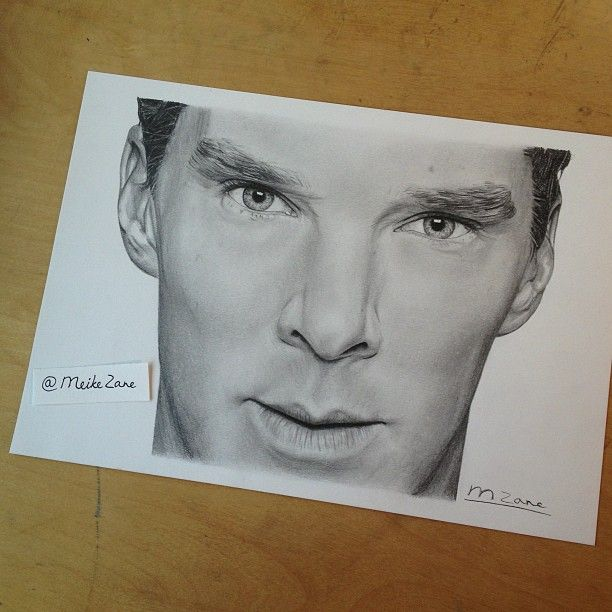 "Benedict Cumberbatch. Gorgeous  drawing from Meike Zane:"" I'm done! Finished Benedict..."" http://pinterest.com/aggiedem/sherlock-addict/ http://pinterest.com/aggiedem/sherbatched-or-cumberlocked/"