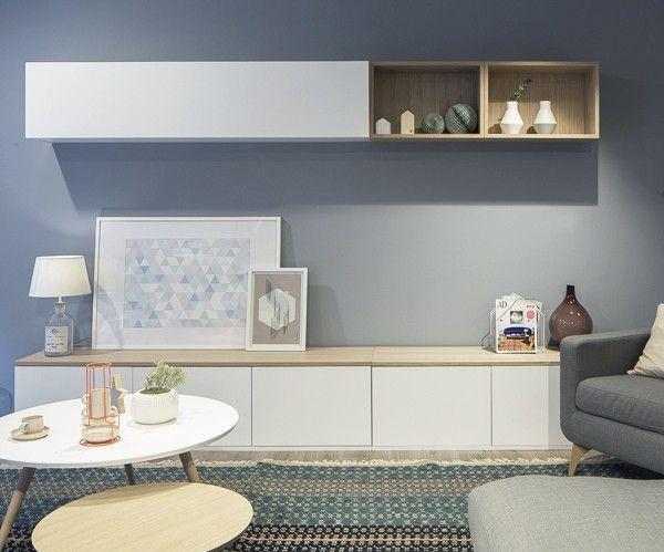 Trend sal n blanco roble juegos pinterest salones - Ideas con muebles de ikea ...
