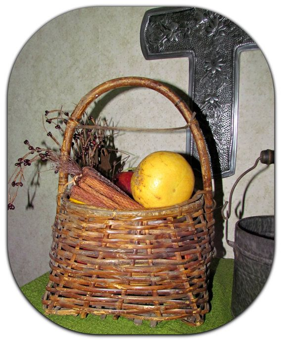 Harbor Shaped Woven Basket by GrammysGoodys on Etsy, $10.00
