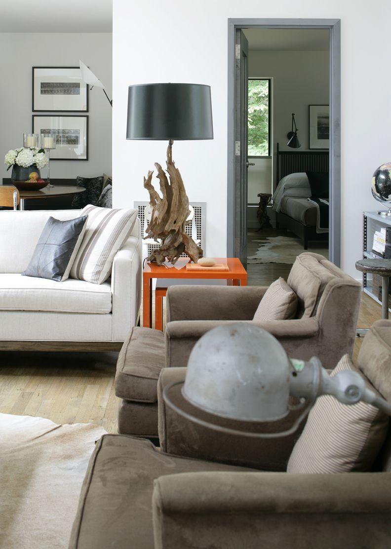 Delavan Street Residence, East Hampton. Living Room.