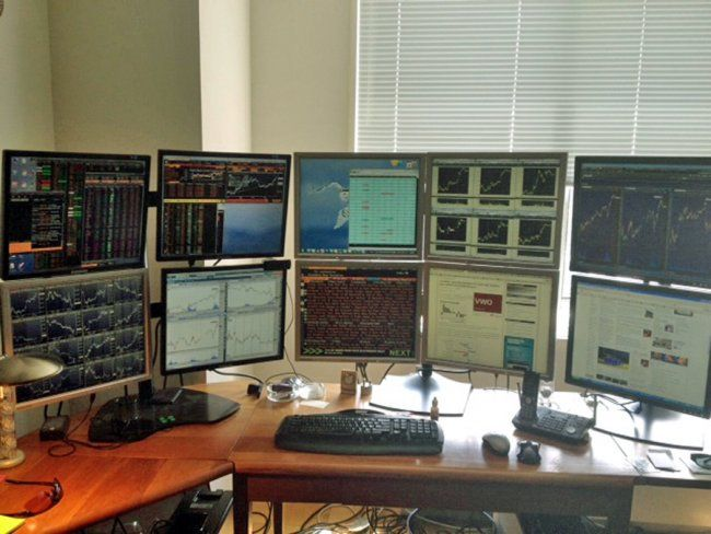 Nathan Michaud Trading Desk Trading Desk Computer Setup Computer Desk Setup