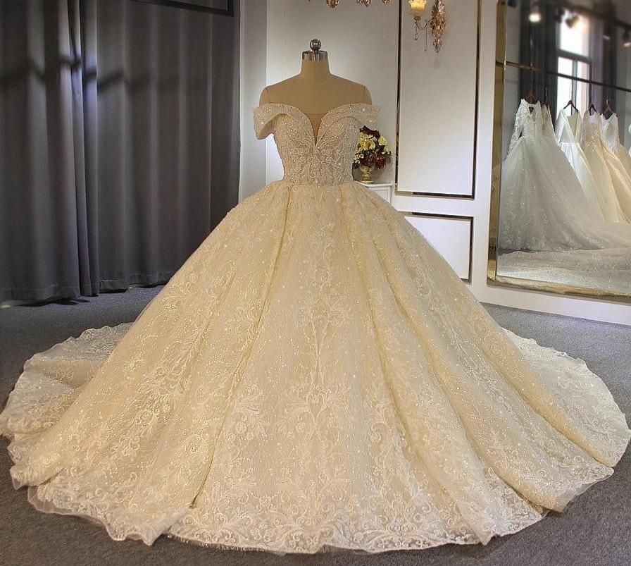 2020 robe de soiree Off Shoulder Style Luxury Ball Gown wedding dress