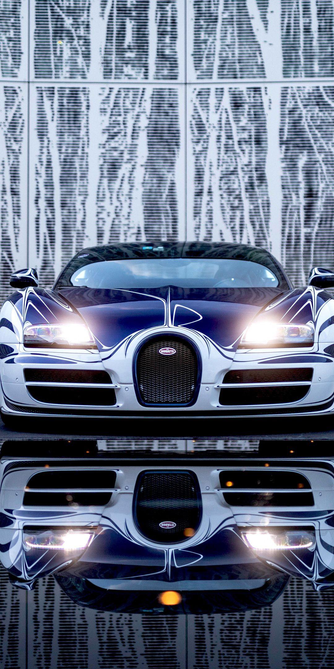 1080×2160 Bugatti Veyron Grand Sport Roadster, front, luxury car wallpaper