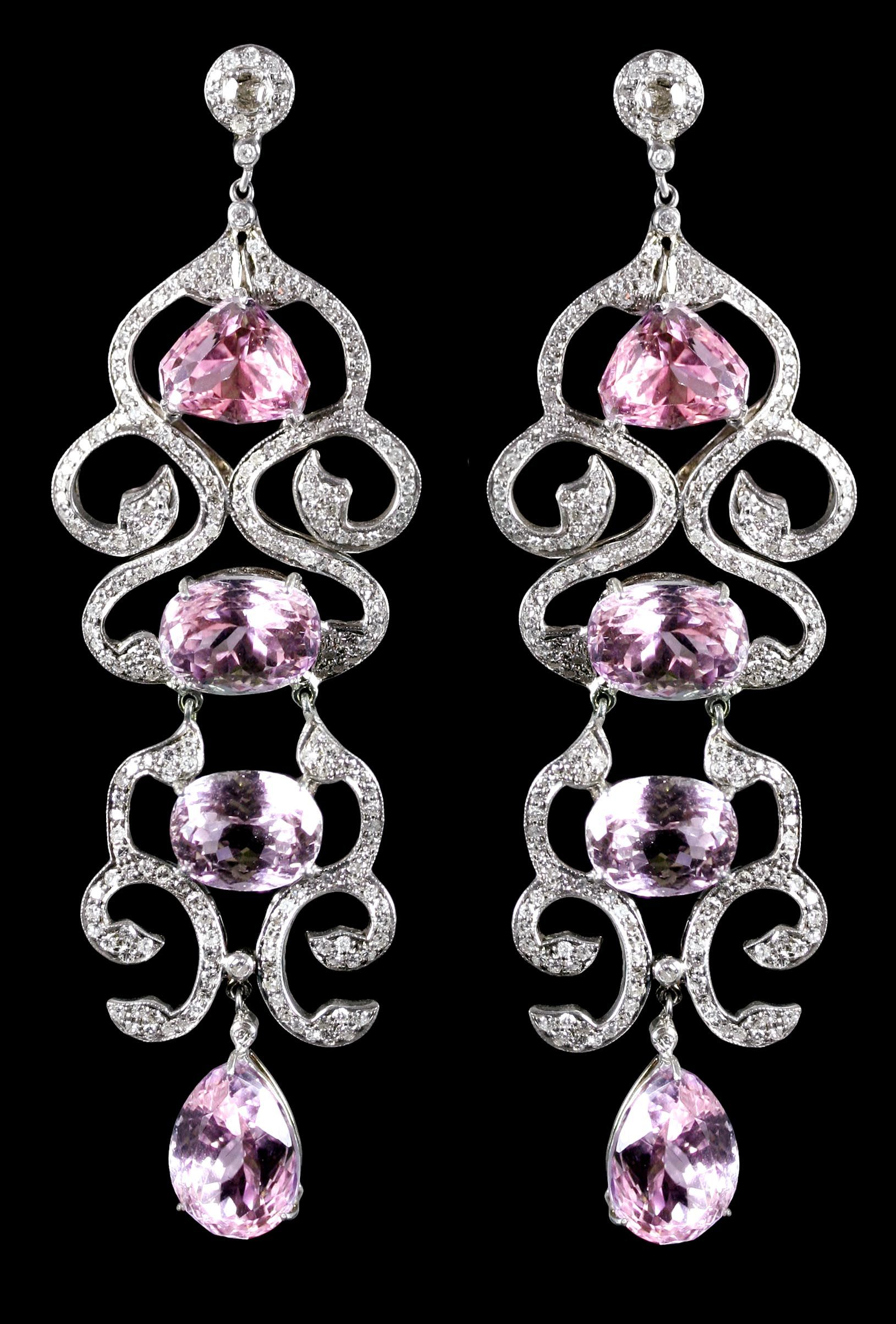 earrings loading kunzite lewis renee operandi white by large gold moda