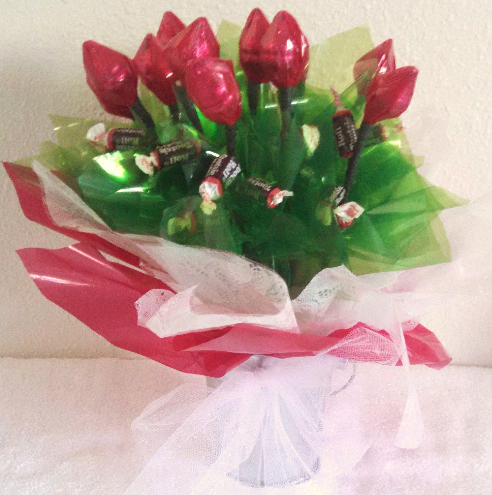 Dozen Hershey Kisses Flower Bouquet Candyleisbyrandm Candy