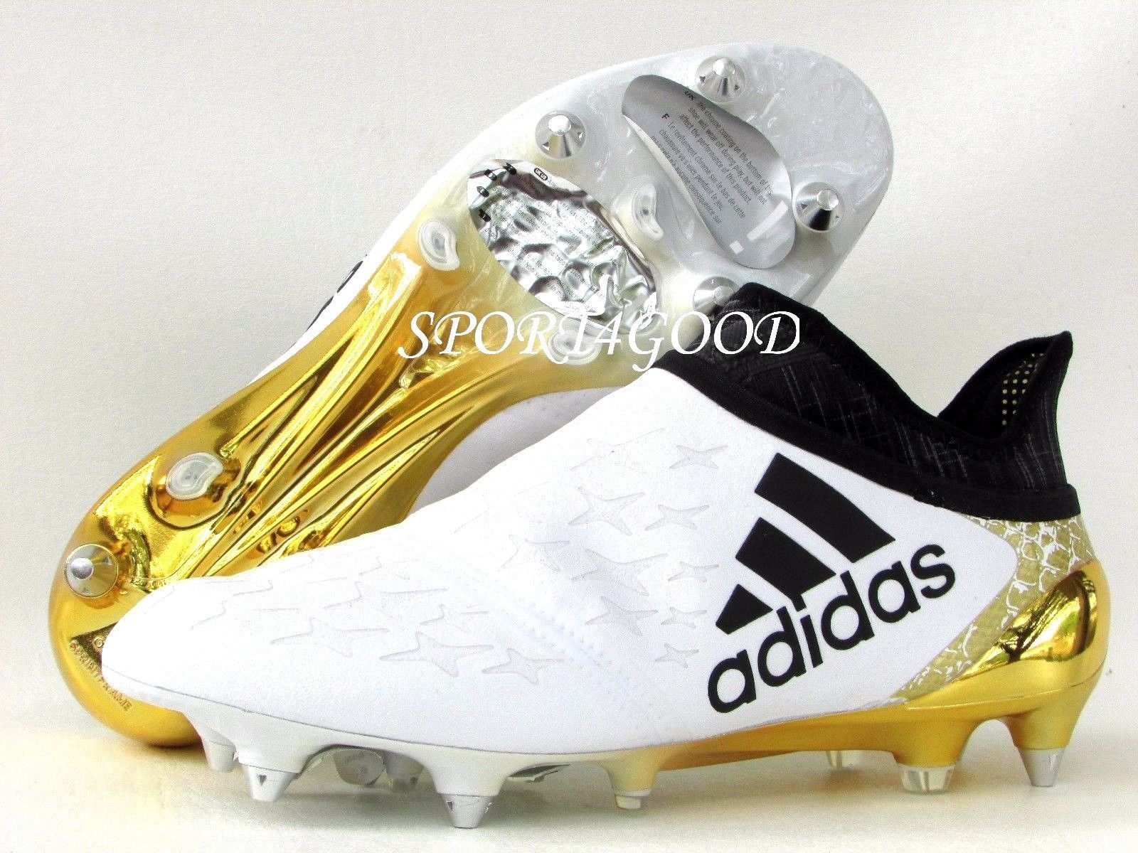 Adidas Soccer Cleats X 16 Purechaos Sg Mens Sz 7 5 White Black Gold Aq4280 Soccer Cleats Adidas Adidas Soccer Football Boots