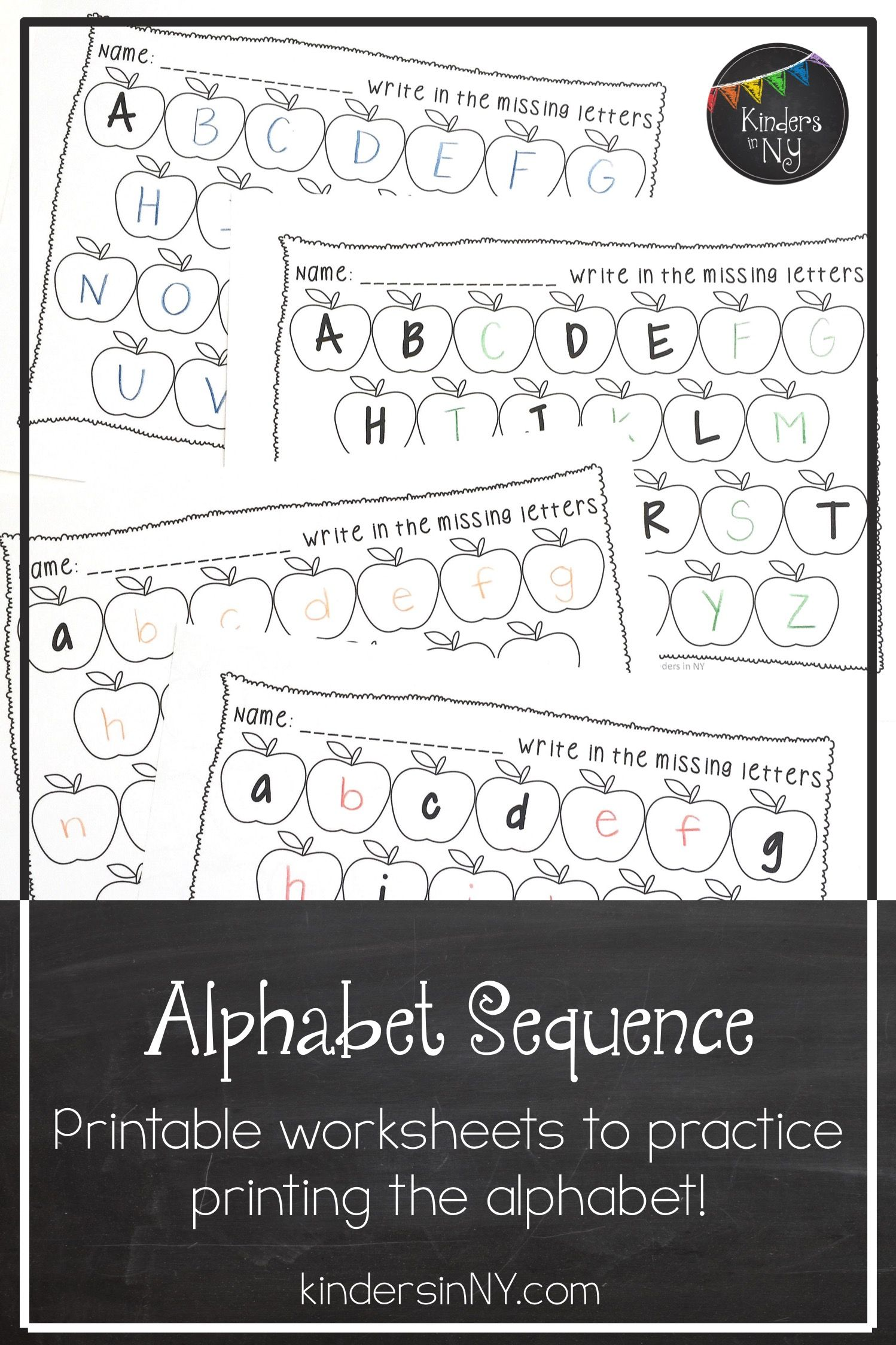 Alphabet Sequence Printables Fall Theme Prek K First