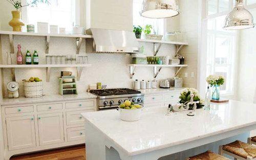 kitchen open shelves