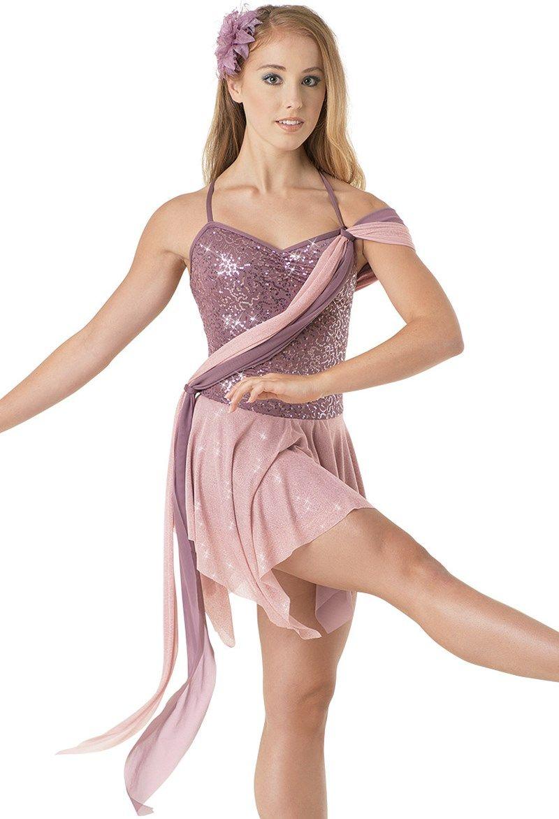 Glitter mesh draped leotard balera half a heart d costumes